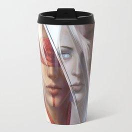 Through a Blade Darkly Travel Mug