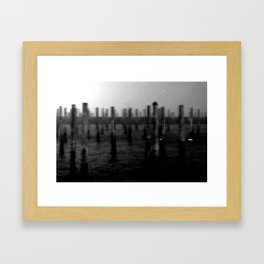 harbor storm Framed Art Print