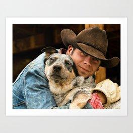 Cowboy's Best Friend Art Print