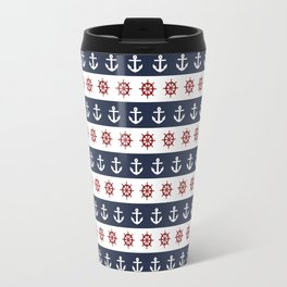 Ship Wheels & Anchors Travel Mug