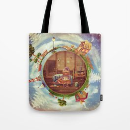 Friendly small Planet Tote Bag