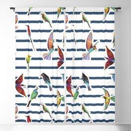 birds tropic summer pattern  Blackout Curtain