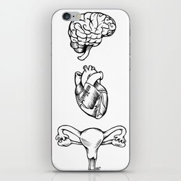 Brain Heart Uterus iPhone Skin