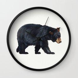 Watercolour Black Bear Drawing Wall Clock