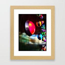 Coloured lights  Framed Art Print
