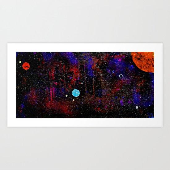 Someone Solar Art Print