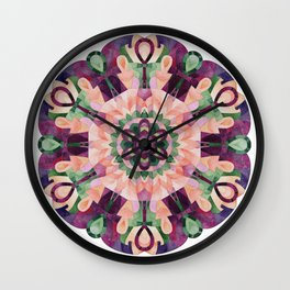 Egyptian Mandala Key of Life Wall Clock