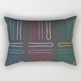 Hairpins Rectangular Pillow