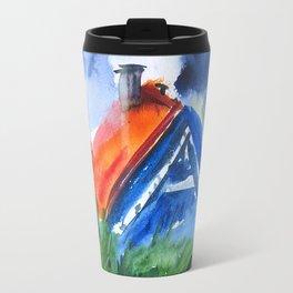 House in Nida, watercolor Travel Mug