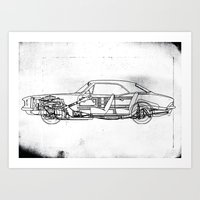 muscle Art Prints featuring Muscle Car by Fernando Vieira