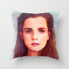 Warm moments in cold days Throw Pillow