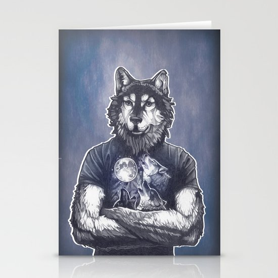 Four Wolf Moon Stationery Cards