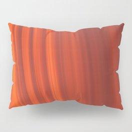 Red & Orange Sunset Stripes Pillow Sham