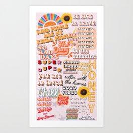 Orange Mood Art Print