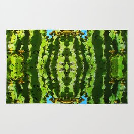 Raindrop Cacti Reflections Rug