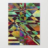 fault Canvas Prints featuring Fault Lines by Klara Acel