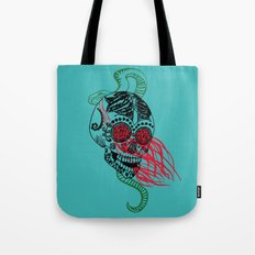 Skull and Snake Tote Bag