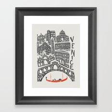 Venice Cityscape Framed Art Print