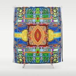 HydroCarbon Mosaic Shower Curtain