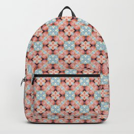 Gorgeous Pastel Pink and Blue Beadwork Inspired Fashion Pattern Backpack