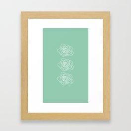 Rose Vert Claire Framed Art Print
