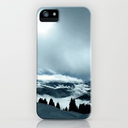 Cloudy Mountain iPhone Case