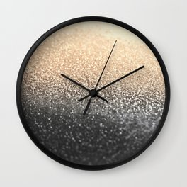 GOLD BLACK Wall Clock