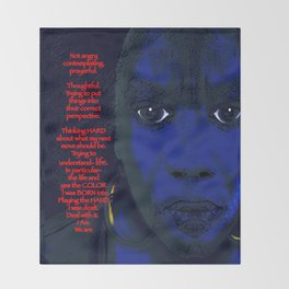 Angry Black Woman Throw Blanket