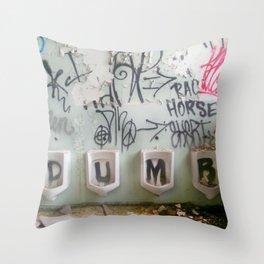Dumb Graffiti  Throw Pillow