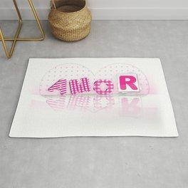amor romántico lindo corazón rosa Rug