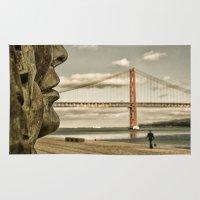 bridge Area & Throw Rugs featuring Bridge by Sébastien BOUVIER