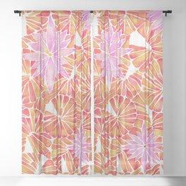Water Lilies – Melon Palette Sheer Curtain