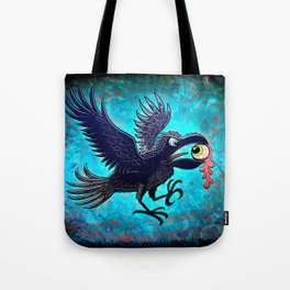 Crow Stealing an Eye Tote Bag