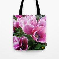 tulips Tote Bags featuring tulips by Liudvika's Lens