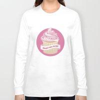cupcakes Long Sleeve T-shirts featuring Cupcakes by Katarina Fegraeus