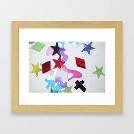 artRAVE confetti Framed Art Print