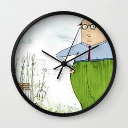Grandad in the Garden Wall Clock