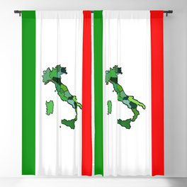 Map of Italy and Italian Flag Blackout Curtain