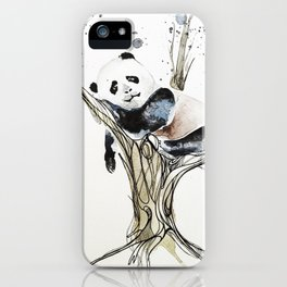 Panda in the Tree iPhone Case