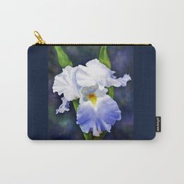 Susan's Blue Iris Carry-All Pouch
