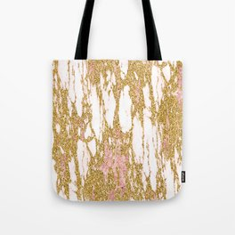 Gold Marble - Intense Glittery Yellow and Rose Gold Marble Tote Bag