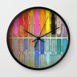 Chalk Pastels & Shoot Wall Clock