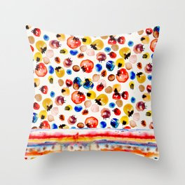 Abstract Bubbles Throw Pillow