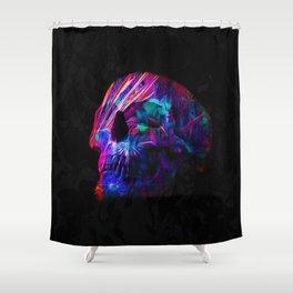 Phantoms vs Fire's Neon Skull Shower Curtain