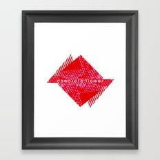 CONCRETE FLOWER Framed Art Print