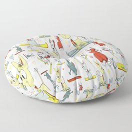 Chi's on skis Floor Pillow