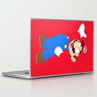 super mario Laptop & iPad Skins featuring Super Mario by Valiant