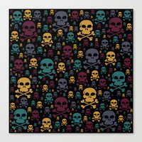 skulls Canvas Prints featuring Skulls by Alice Gosling