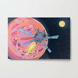 Satellite in space Metal Print