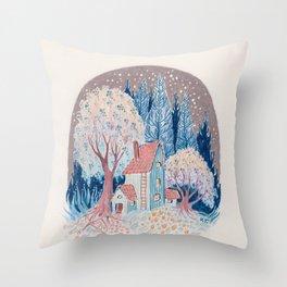 Sleepy Garden Throw Pillow